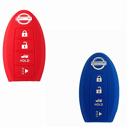 Silicone Replacement Protective Fob Skin Key Cover Chains Bag Holder Key Jacket Protector for Nissan Maxima Nissan Altima Nissan Gt-r Nissan Sentra Nissan Murano 4Bts thanksgiving day
