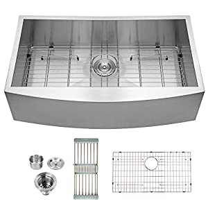 41jLajUWKvL._SS300_ 75+ Beautiful Stainless Steel Farmhouse Sinks For 2020