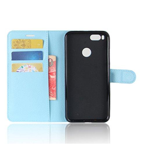 Funda Xiaomi Mi 5X,Manyip Caja del teléfono del cuero,Protector de Pantalla de Slim Case Estilo Billetera con Ranuras para Tarjetas, Soporte Plegable, Cierre Magnético E