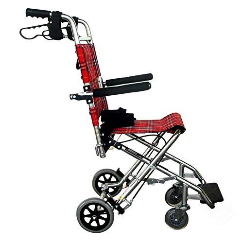 GUONING-L-Dual-Medical-Rehab-Chair-WheelchairLightweight-Folding-Wheelchair-Driving-Medical-Wheelchair-Child-Disabled-Elderly-Aluminum-Wheelchair-Travel-Wheelchair-Chrome