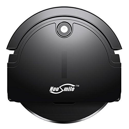 Housmile Robotic Vacuum Cleaner with Drop-Sensing Technology and Powerful Suction, Extreme Cleaning for Pets Hair, for Hardwood and Tile (2nd Gen: Upgraded Wheel)