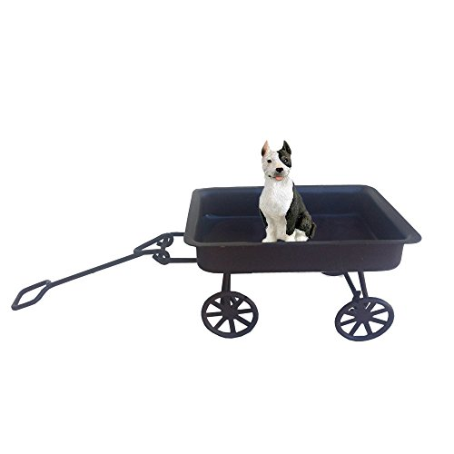 Brindle Pit Bull on a Wagon Ride ()