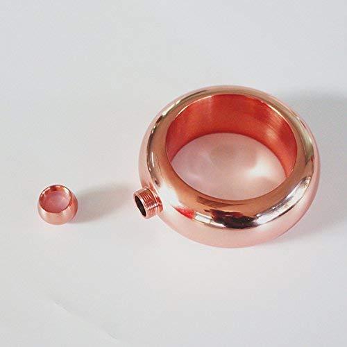 Allwway Juego de petaca de Acero Inoxidable con Forma de Pulsera de Oro Rosa