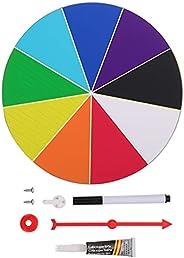 GARNECK 20cm Casino Prize Wall Wheel Spinner Spinning Prize Wheel Color Tabletop Prize Wheel Spinner for Teach