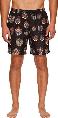 Dolce & Gabbana Men's Heraldic Sicily Medium Boxer Swimsuit Black 5 - Gabbana Dolce Sicily And