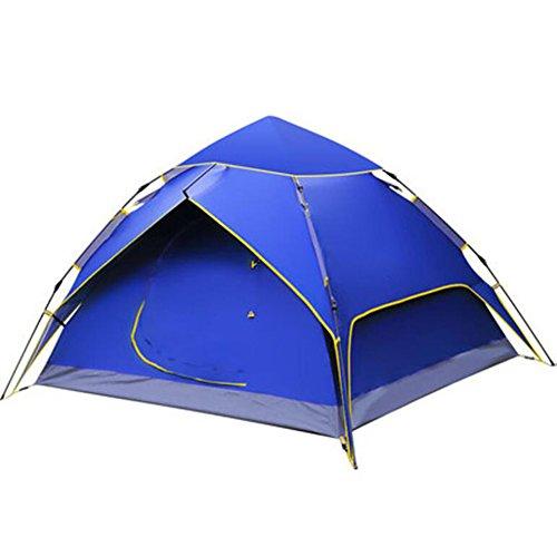 インディカホールド誇張キャンプ用の油圧キャンプテントキャノピー自動防水油圧テント3-4人のキャノピー簡単にセットアップし、パッケージをするために青い日の保護キャンプ自動テント