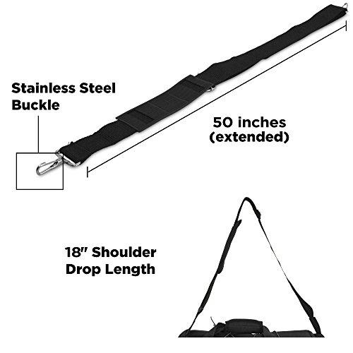 DALIX 25″ Extra Large Vacation Travel Duffle Bag (Black, Grey, Navy Blue, Red, Camo) (Maroon)