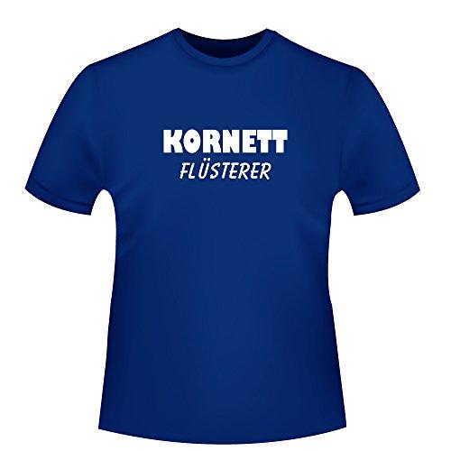 Kornett Flüsterer, Herren T-Shirt - Fairtrade - , Größe 3XL, royalblau
