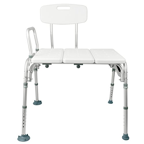 Tub Transfer Bench by Vive - Bath & Shower Transfer Bench - Adjustable Handicap Shower Chair - Medical Bathroom Accessibility Aid for Elderly, Disabled, Seniors & Bariatric