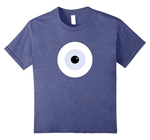 Halloween College Costumes Guys (Kids Scary Monster Eyeball Halloween Costume Alternative T-Shirt 10 Heather Blue)