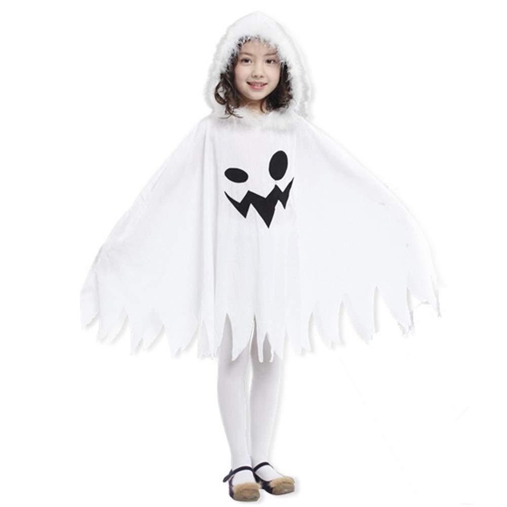 Cosanter Halloween Weißes Geister Umhänge Mäntel für Junge und Mädchen Make-up Party Kostüm Geeignet von 100-140 cm