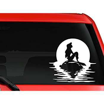 Amazoncom Mermaid Princess Silhouette Car Window Vinyl Decal - Window decals near me
