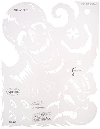 Artool Freehand Airbrush Templates, Son Of Skullmaster Set