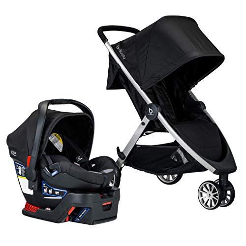 BRITAX B-Lively Travel System with B-Safe 35 Infant Car Seat | One Hand Fold, Ashton