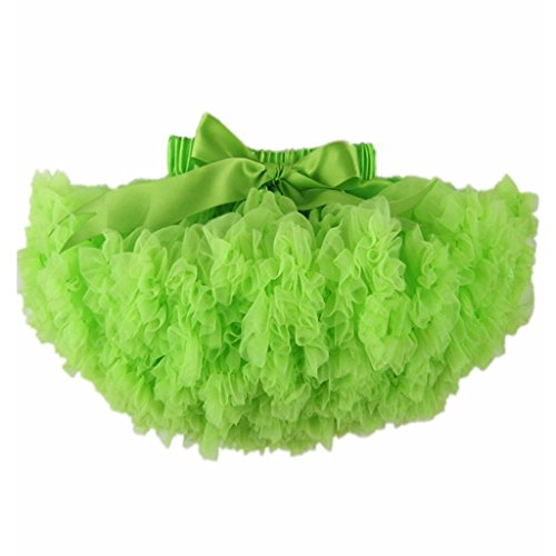 Buenos Ninos Girl's Solid Color Dance Tutu Pettiskirt Fluorescence Green 1-2T/80 -