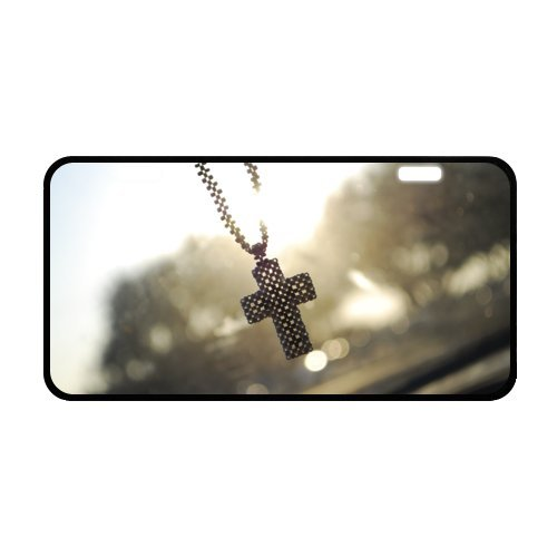 Christian Cross License Plate with Cheap Sale-11.8