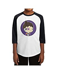 Youth Boys & Girls Vegetta777 3/4 Sleeve Baseball Raglan Tee Jersey Small Black
