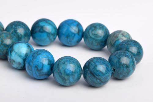 12mm Natural Blue Crazy Lace Jasper Grade Round Gemstone Loose Beads 7'' Crafting Key Chain Bracelet Necklace Jewelry Accessories Pendants