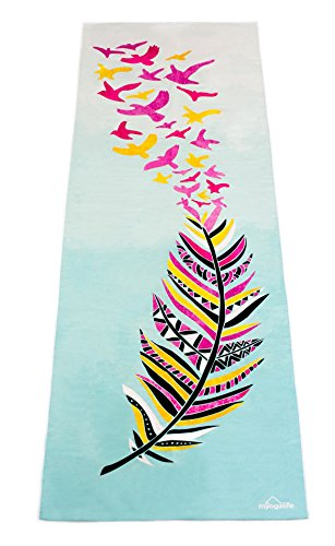 Hot Yoga Towel by Myogalife. Beautiful Design, Extra Long (24