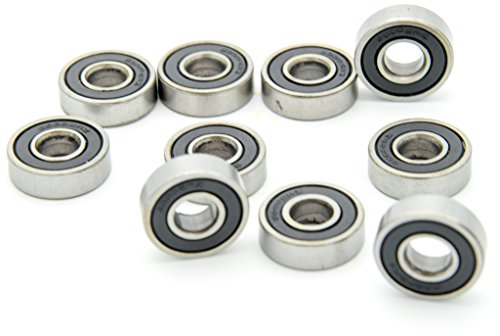 Carbon Steel Pack of 10 sourcing map 6000-2RS Ball Bearing 10mm x 26mm x 8mm Double Sealed 180100 Deep Groove Bearings
