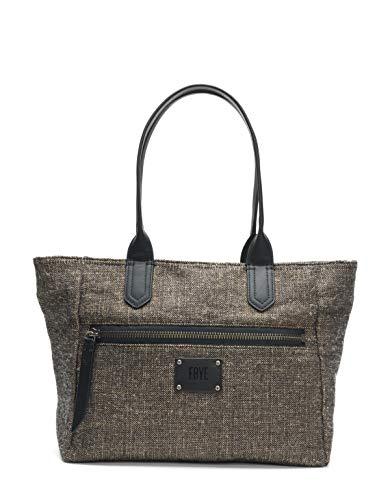 FRYE Ivy Nylon Zip Tote Handbag, black