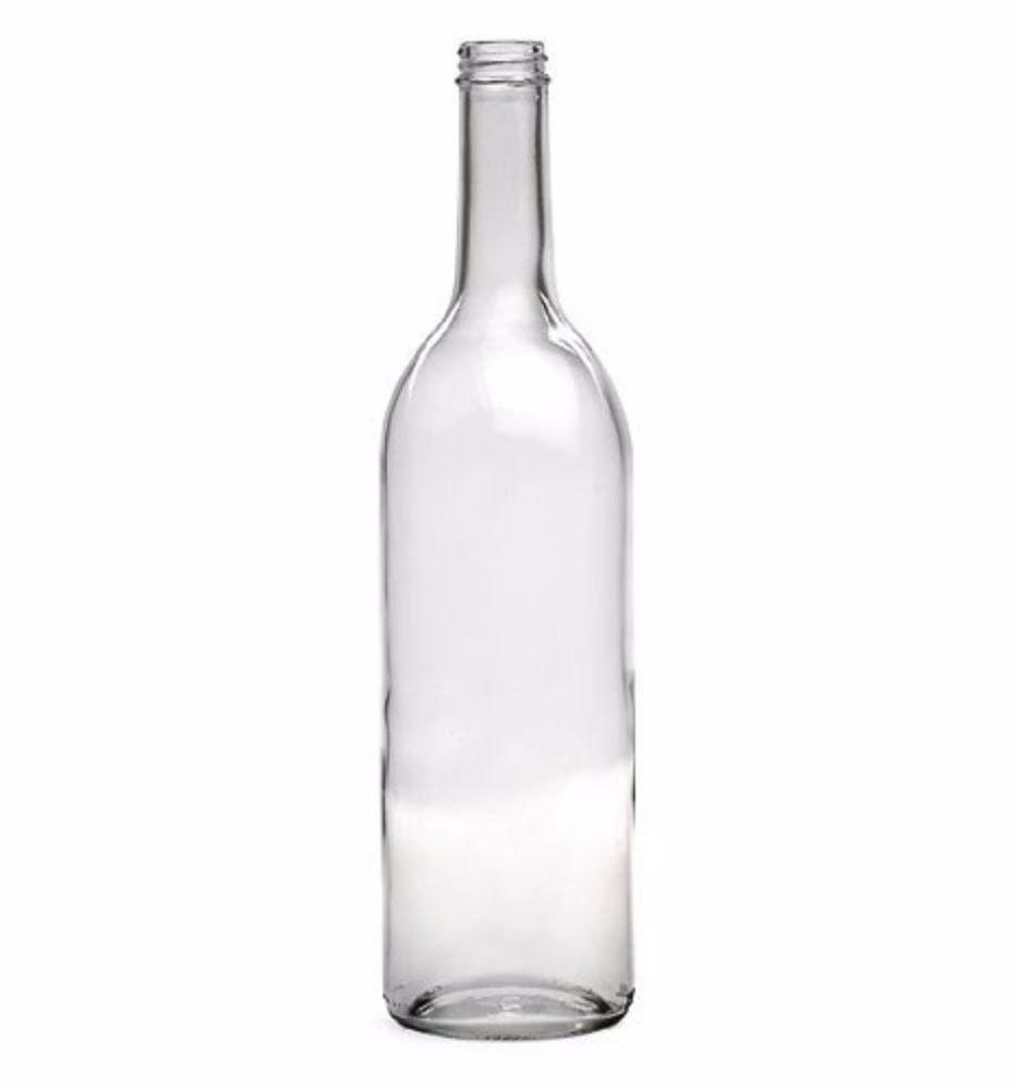 E.C. Kraus 750 Ml Clear Wine Bottles, Screw Cap Finish