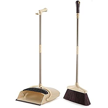 Amazon Com Libman Lobby Broom Amp Dust Pan Closed Lid