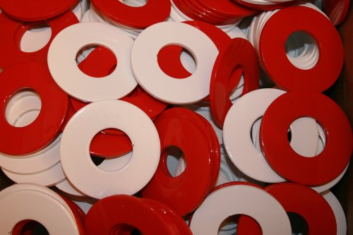 RiverCity Pitching Washers: (4) White 2.5 Inch Washers