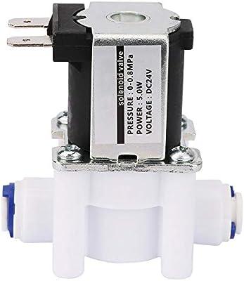 24V DC N/C Válvula solenoide de plástico para la válvula de ...