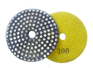 Toolocity MFPNG4100 4-Inch 100 Grit Metal Bond Vitrified Diamond Polishing Pad