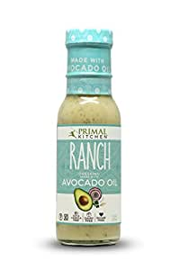 Primal Kitchen - Ranch, Avocado Oil-Based Dressing and Marinade, Whole30 and Paleo Approved (8 oz)