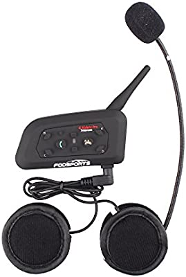 dcaf6db3aa6 Fodsports Motorcycle Motorbike Bluetooth BT Helmet Interphone Communication  System Headsets Intercom for Riding Skiing Snowmobile Scooter ...