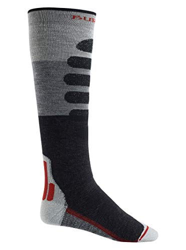 (Burton Men's Performance + Midweight Sock, Gray Heather Block, Small )