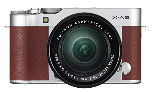 Fujifilm X-A3 Mirrorless Camera XC16-50mm F3.5-5.6 II Lens Kit – Brown (Certified Refurbished)