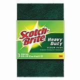 """3M 223 Scotch-Brite Heavy Duty Scour Pad, 6"""" x 3.8"""", 3-Pack"""