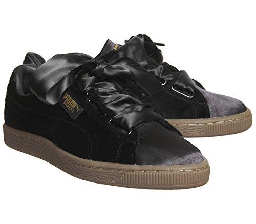 Gum PUMA Negro Zapatillas Mujer Gum Negro Basket Heart Velvet rxvrwpO