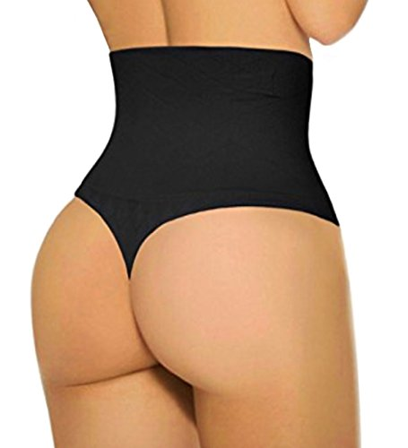 Jenbou Waist Cincher Girdle Tummy Control Panties Trainer Sexy Thong Body Shaper Slimming Shapewear for Women Black Panty Girdle