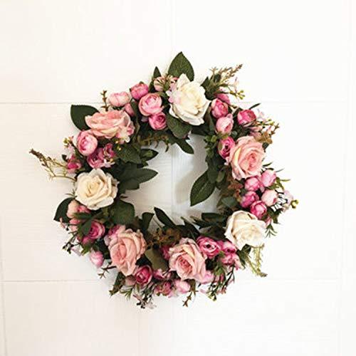 Romantic-Heart-Shaped-Silk-Rose-Artificial-Flowers-Door-Wall-Hanging-Decor-Garland-Wreath-Wedding-Party-Flower-Background-PropsT-650Mm