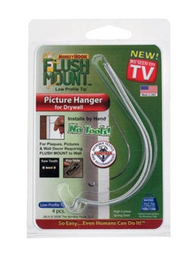 Flush Mount Picture Hanger For Drywall And Sheetrock As Seen On Tv