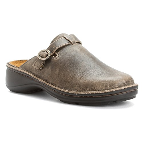 Naot Women's Aster Mule Vintage Gray Leather