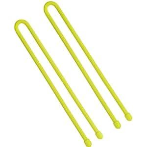 Niteize GT12-2PK-33 12 inch Gear Tie, 2 Piece Pack - Neon Yellow
