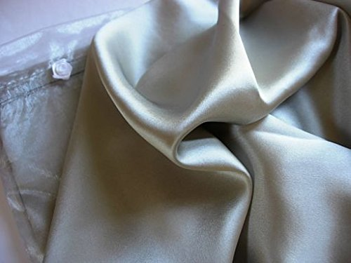 Set of 2 Silver 100% Mulberry Silk Pillowcase King Pillow Ca