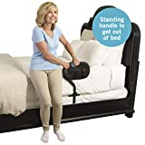 Stander BedCane - Adult Home Bed Safety Rail  & Handle + Height Adjustable Elderly Standing Assist Aid & Pouch