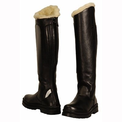 TuffRider Women's Tundra Fleece Lined Tall Boots in Synthetic Leather, Black, 9 Wide