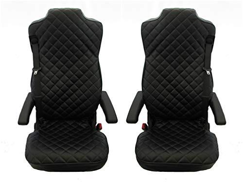 Onbekend 2 x vrachtwagenstoelhoezen zwart beschermhoezen voor vrachtwagen Man TGA, TGL, TGM, TGS, TGX