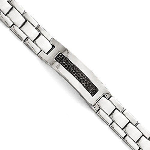 Stainless Steel Polished 1/2ct Tw. Diamond Bracelet - 8.25 Inch