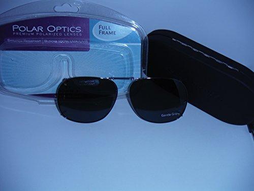 dd5fc9f821 Polar Optics 57 Square 3 Full Frame with Hard Case Polarized Clip-on Sunglasses  Gray
