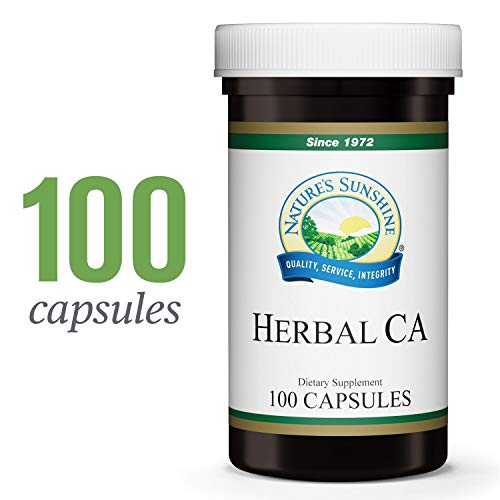 Nature's Sunshine CA Herbal, 100 Capsules | Natural Supplement Helps Maintain The Nervous and Structural Systems