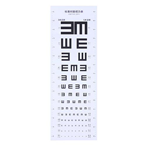 - UKCOCO Plastic Eye Chart Visual Testing Chart for Home School (White)