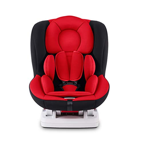 GY Child Safety Car Seat, Adjustable Backrest, Side Collision Protection, ISOFIX Interface, 0-4 Year Old Convertible Car Seat, 3 Colors, 474762cm (Color : Red)